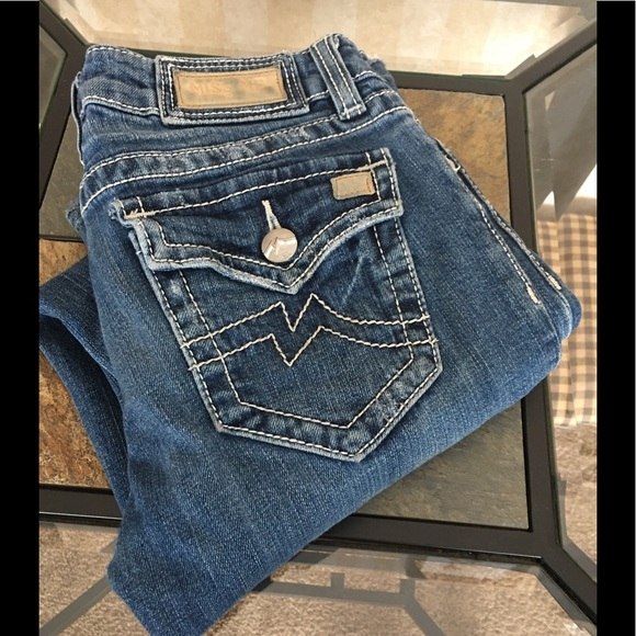 Miss Me Denim - Miss Me boot cut jeans.